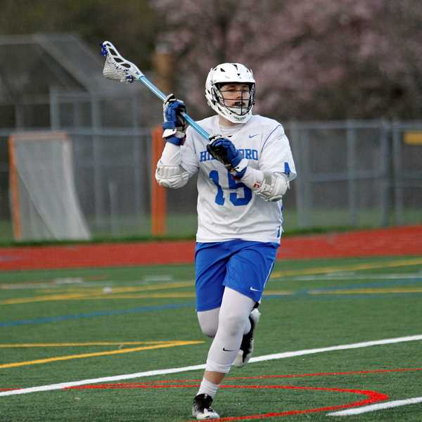 PMG PHOTO: WADE EVANSON - Hillsboro's Nathan Jones surveys the field during the Spartans' game against McNary Wednesday, April 3, at Hillsboro High School.