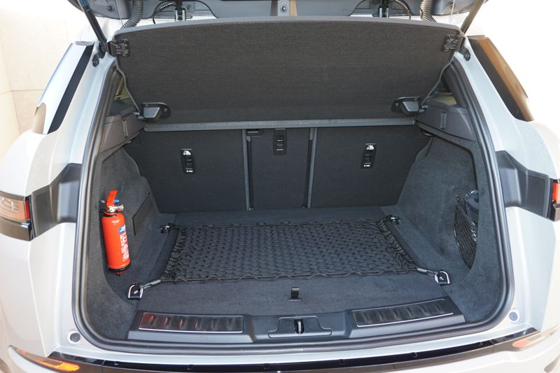PORTLAND TRIBUNE: JEFF ZURSCHMEIDE - The Evoque has an impressive amunt of storage space behind the rear seats, which fold down for even more room.