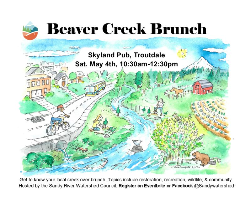 COURTESY PHOTO:  EAST MULTNOMAH SOIL AND WATER CONSERVATION DISTRICT. - The Sandy River Watershed Council will host an upcoming brunch to learn about Beaver Creek restoration efforts.