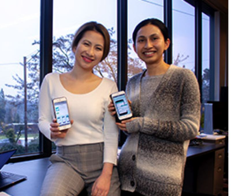 COURTESY: PORTLAND STATE UNIVERSITY - Sisters Sreyrith Seng, an MBA candidate and Roat Seng, a software engineer, have been working on a simple app called Meals by the Day to reduce waste through meal planning.