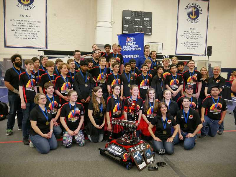 COURTESY PHOTO - Glencoe's 'Shockwave' robotics team has long been known as a powerhouse in local robotics competitions. This year, students from all four Hillsboro School District high schools will compete at the FIRST robotic championships.
