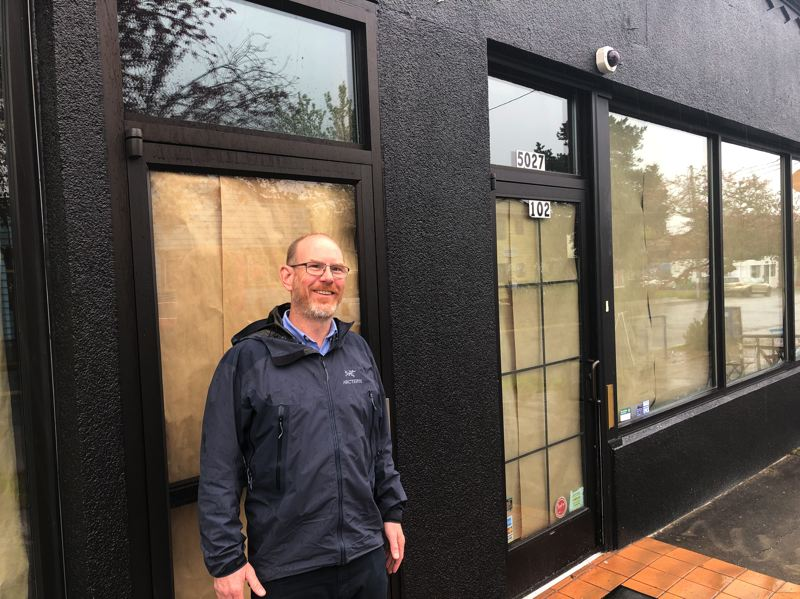 COURTESY: SAMUEL HOLLOWAY - Jeff Althouse, the founder of Eugene-based Oakshire Brewing, is preparing this summer to open the Oakshire Public Hall on Southeast 42nd Street, a Portland neighborhood is says is in need of a community gathering spot.