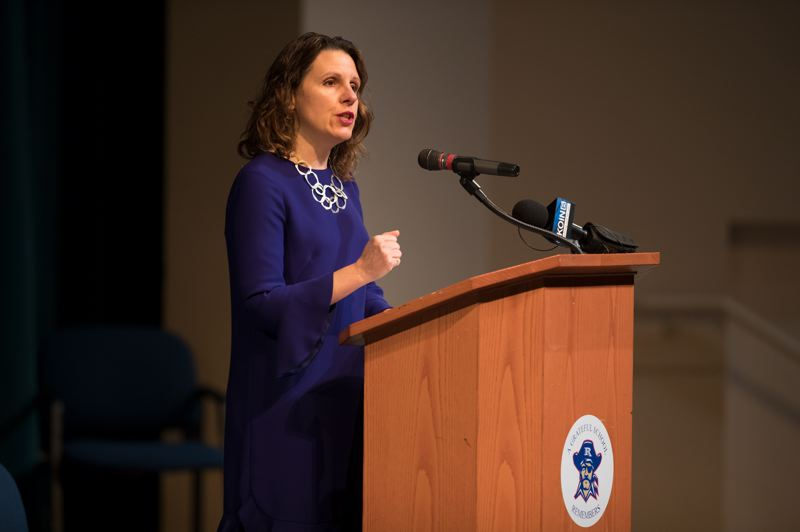 TRIBUNE FILE PHOTO - Multnomah Chair Deborah Kafoury, shown last year, announced new initiaves Friday at the annual State of the County speech, including a building purchase to help the situation for homeless people downtown, a fair pay inititiative for county contractors.