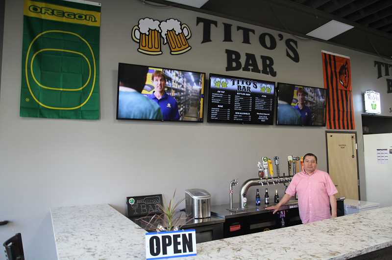 PMG PHOTO: JUSTIN MUCH - Longtime Woodburn resident and Titos bar manager, Ulises Morales, is enthusiastic about opening a sports bar right downtown in the Metropolis.