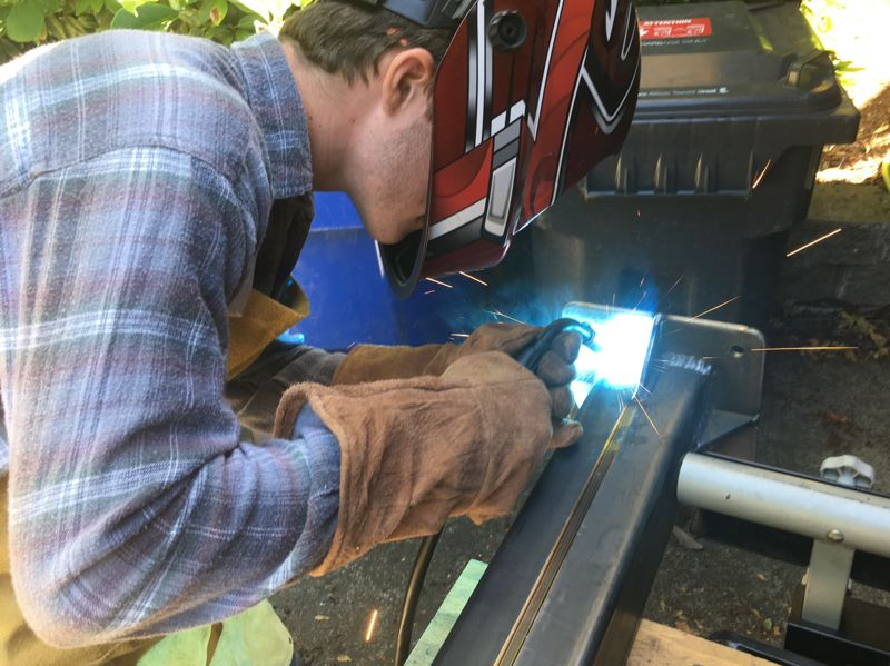 COURTESY PHOTO: ROPP FAMILY - Ropp loves his science and math classes at Barlow, but thrived on the hands-on technical classes he took including welding.