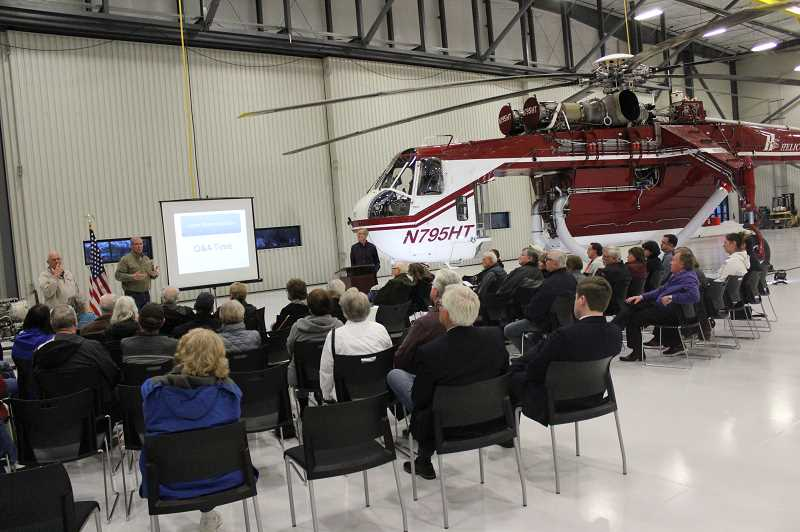 PMG PHOTO: COREY BUCHANAN - Positive Aurora Airport Management responded to complaints about planes flying over Charbonneau at meeting.