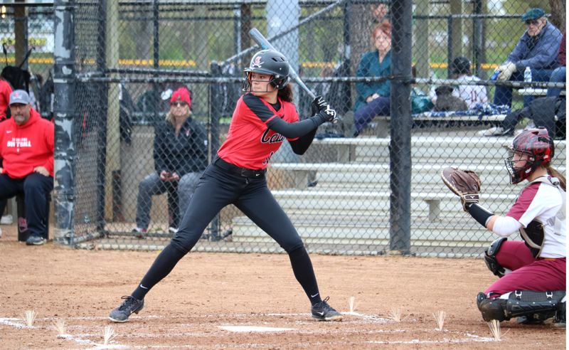 PMG PHOTO: JIM BESEDA - Clackamas' Alyssa Daniell went 3 for 3 with a double and scored two runs to help lead the Cavaliers to a 6-1 Mt. Hood Conference win over Central Catholic Friday at Delta Park.