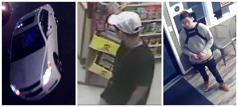 VIA CRIME STOPPERS OF OREGON - Police are searching for a suspect in a shooting outside Murphy's Market in East Portland in March.