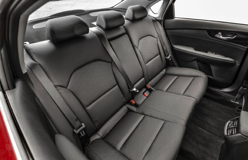 KIA MOTORS AMERICA - Rear seat room is good for any compact vehicle in the 2019 Kia Forte.