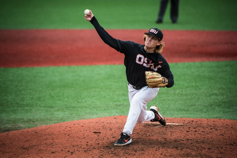 COURTESY PHOTO: KARL MAASDAM - Bryce Fehmel has been steady on the mound throughout his Oregon State career.