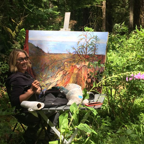 COURTESY: KIM OSGOOD - Kim Osgood has long been known as a monotype painter but has a new show exhibiting her plein air paintings.