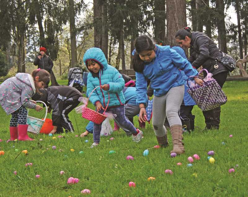 PMG FILE PHOTO - The City of Woodburn hosts its annual Easter egg hunt at Legion Park on April 17.
