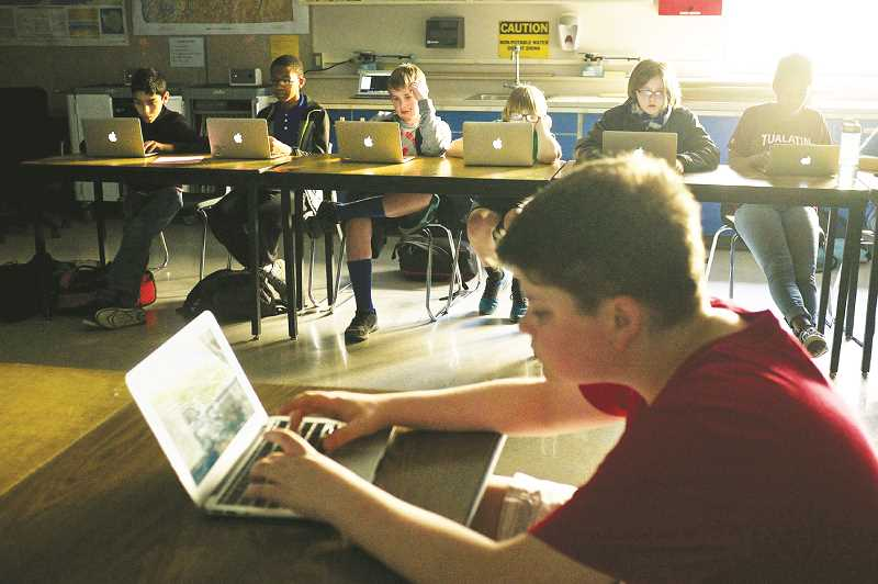 PMG FILE PHOTO - The Legislature is considering a study to set safety recommendations for students' use of technology in schools.