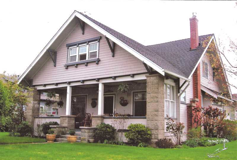 PHOTO FROM THE AUTHOR'S COLLECTION - The Elmer Ray & Cora Maude Todd House is located at 102 East Third Street in Molalla.  The 107 year-old home, built in the Craftsman Bungalow Style, is in excellent condition and is privately owned.