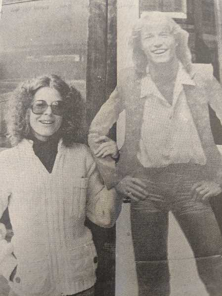 ARCHIVE PHOTO - In 1979, Estacada resident Sherril Osborn purchased a cutout of singer Andy Gibb from a local yard sale.