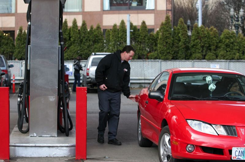 PMG FILE PHOTO - A proposed gas tax credit could ease the impact of a cap-and-trade measure on low-income Oregonians.