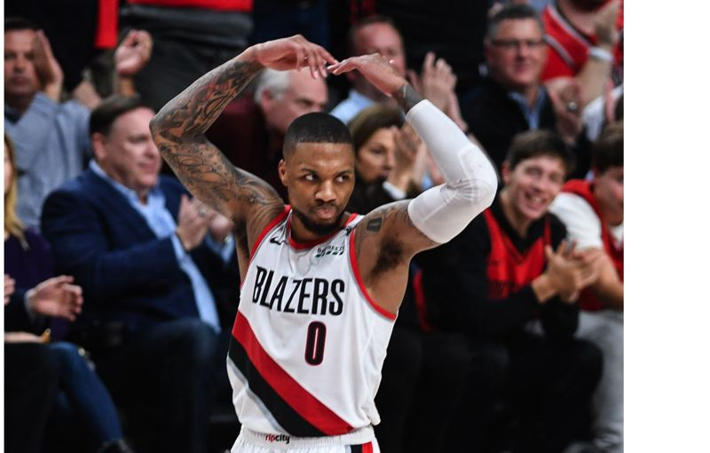 PMG PHOTO: CHRISTOPHER OERTELL - Damian Lillard and the Trail Blazers have a 2-0 lead in their best-of-seven NBA first-round playoff series with Russell Westbrook and the Oklahoma City Thunder.