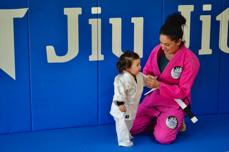 POST PHOTO: BRITTANY ALLEN - Children can start training in jiu jitsu at the age of 12 months, though most start at 4 years.