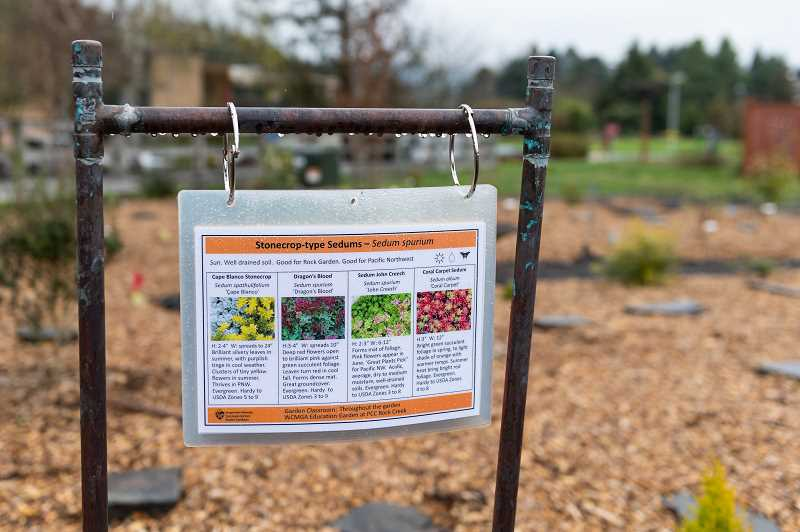 PMG PHOTO: CHRISTOPHER OERTELL - The new Education Garden is a living classroom for Washington County Master Gardeners Assocation to give lectures and hold classes for the public.