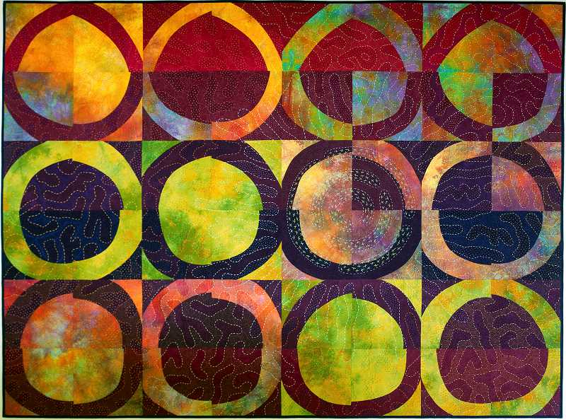COURTESY PHOTO  - Mary Kay Price is one of the six artists showing her quilts in The Art of Quilting, a new exhibit at the Arts Council of Lake Oswego. This piece is titled Three x Four.