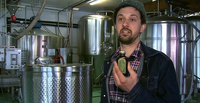 KOIN 6 NEWS IMAGE - Head brewer Brent Wolczynski at Stumptown Coffee Roasters in Portland, April 17.