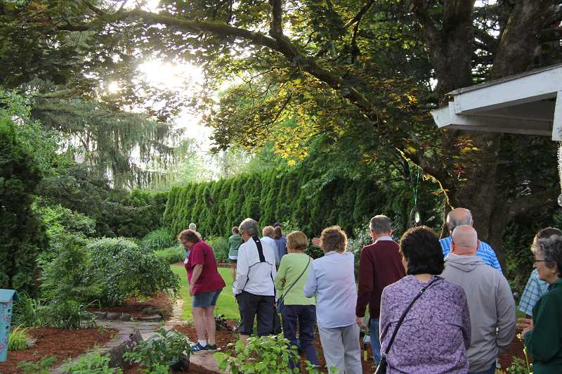 COURTESY PHOTO: FRIENDS OF HISTORIC FOREST GROVE - Since the 1990s, the Garden Tour from Friends of Historical Forest Grove has attracted hundreds of visitors to see what backyards in town look like.