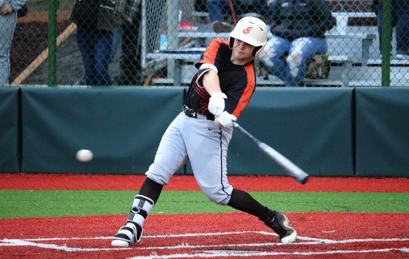 PMG FILE PHOTO: JIM BESEDA - Breeler Mann of Scappoose had two hits in the team's series opener at home against La Salle Prep.