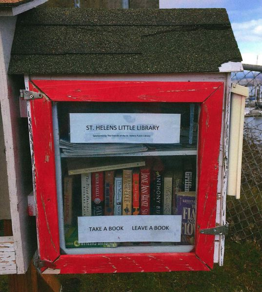 COURTESY PHOTO - The Friends of St. Helens Public Library will be donating another little library fixture that will be installed at Walnut Park. The friends group currently maintains two other small libraries at the St. Helens City Docks and the Columbia Pacific Food Bank