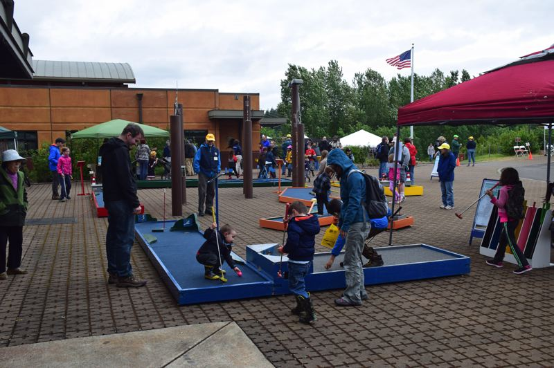 COURTESY PHOTO: REFUGE - Once the sun comes out and rains ease off, families come out to play at the Refuge.