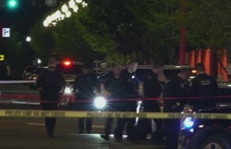 KOIN 6 NEWS - The scene of the Friday shooting.