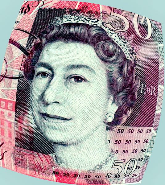 COURTESY PHOTO - Queen Elizabeth II's image is on the British 50 pound sterling note.