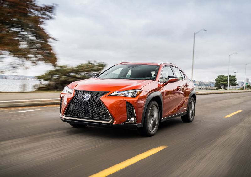 TOYOTA MOTOR SALES - The 2019 Lexus UX 200 is exciting to look at and fun to drive, especially with the F Sport package that improves handling.