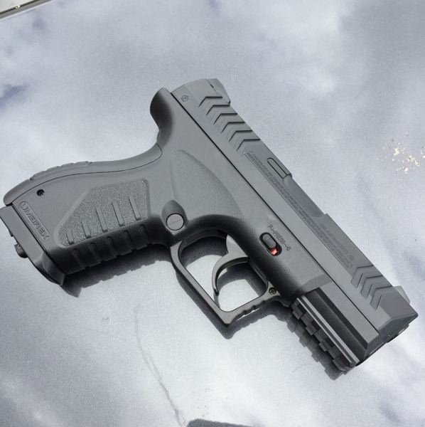PPB PHOTO - Porltand Police say they confiscated this realistic airsoft pistol from Dennis Spencer on April 20.