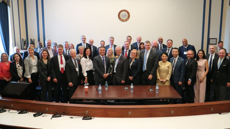 COURTESY: PORTLAND BUSINESS ALLIANCE - The Portland Business Alliance and the Oregon Business Plan led a group of more than 40 Oregonians who met with the states congressional delegation in Washington, D.C. to discuss trade issues.