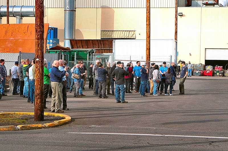 DAVID F. ASHTON - When a fire broke out in the Precision Castparts Structurals plant on Johnson Creek Boulevard in late March, workers briefly evacuated the building.