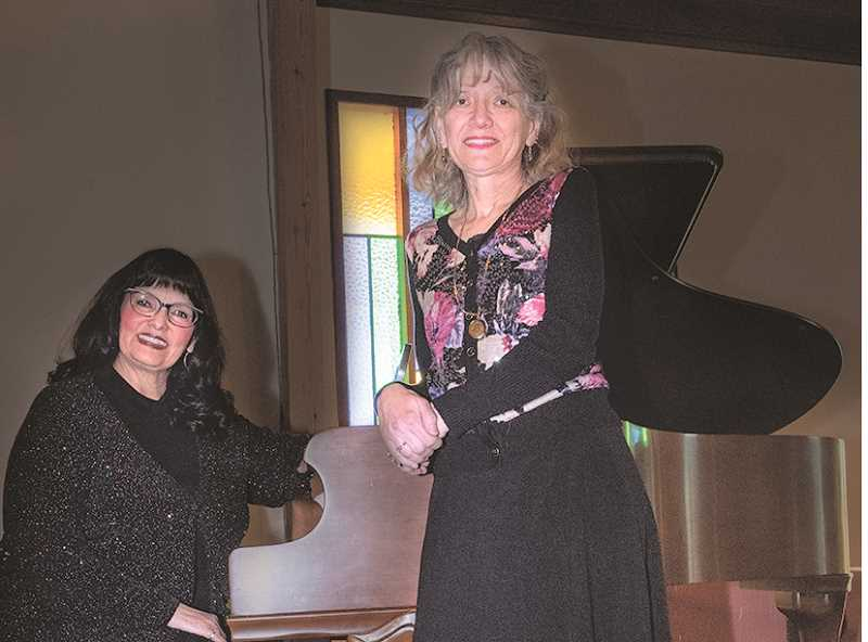 LON AUSTIN - Prineville musicians Maureen Fagan Bristow, left, and Karlene Austin plan a Duo Piano Program this Sunday afternoon.
