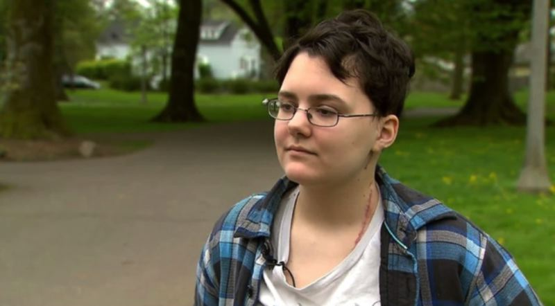 KOIN 6 NEWS - Eleanore, 18, was stabbed by a stranger on March 10 while walking home near NE 78th and Klickitat Street.