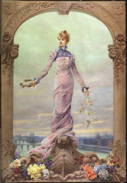 COURTESY: PORTLAND ART MUSEUM - Louise Abbema's painting 'Allegory of the City of Paris' will greet visitors to the Portland Art Museum's upcoming 'Paris 1900: City of Entertainment.' The city leans on its history often, and it's why watching Notre Dame cathedral hurt so much.