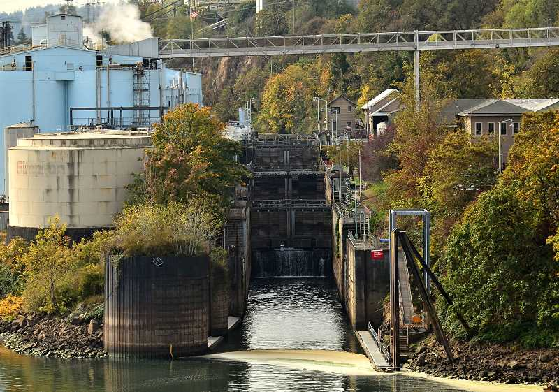 PMG FILE PHOTO - The Willamette Falls Locks Commission has been working for years to come up with a plan to reopen the locks.
