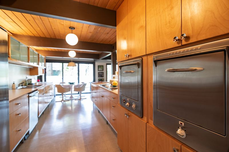 COURTESY PHOTO: TIMOTHY NIOU FOR RESTORE OREGON - The Lewises tore out an iffy remodel of their kitchen and restored it using typical mid-century modern design features.