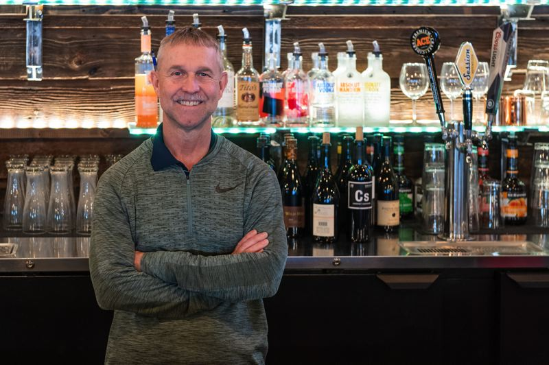 PMG PHOTO: CHRISTOPHER OERTELL - Phil Carow said his new restaurant and bar, which he opened with two other Forest Grove residents, turned out to be everything he was looking for and more.