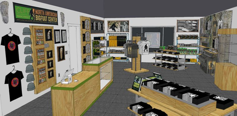 CONTRIBUTED PHOTO: SCOTT 'MINTY' MINTON - The North American Bigfoot Cenrer will include a welcome center, a gift shop, interactive displays with both audio and visual components and a library, to be completed and opened in phases throughout 2019.