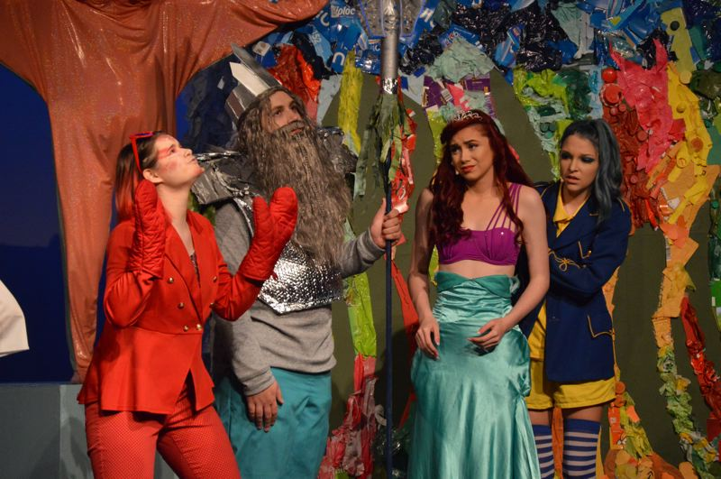 PMG PHOTO: NICOLE THILL-PACHECO - Scappoose High School students will debut their spring musical, 'The Little Mermaid,' this week. Showings will be held Thursday to Saturday, April 25-27.