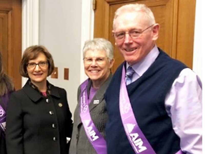 SUBMITTED PHOTO - Carol and Gary Hankins met with Congresswoman Suzanne Bonamici (left) recently as attendees of the 2019 Alzheimer's Impact Movement Advocacy Forum, held recently in Washington, D.C.