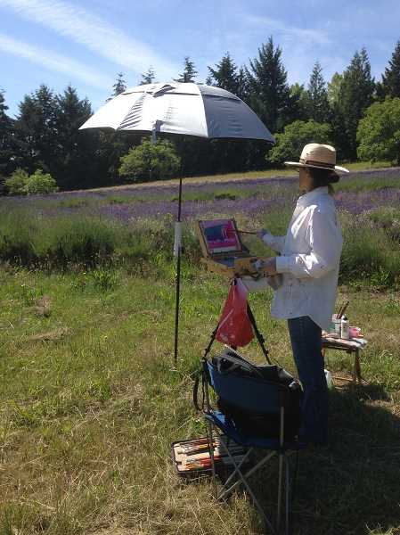 Lisa Wiser enjoys painting plein air, capturing the feeling of a landscape and mans influence on the land.