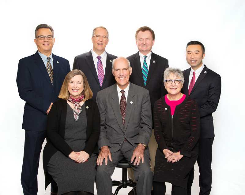 PMG FILE PHOTO - 2019-2020 Lake Oswego City Council