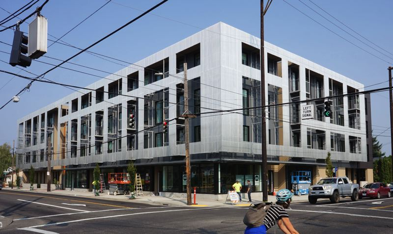 COURTESY: WEIL BIXBY ARCHITECTURE - The Lenox Addition Apartments, in Southeast Portland at 52nd and Holgate, differ from the typical mid-rise urban housing designs found throughout Portland.