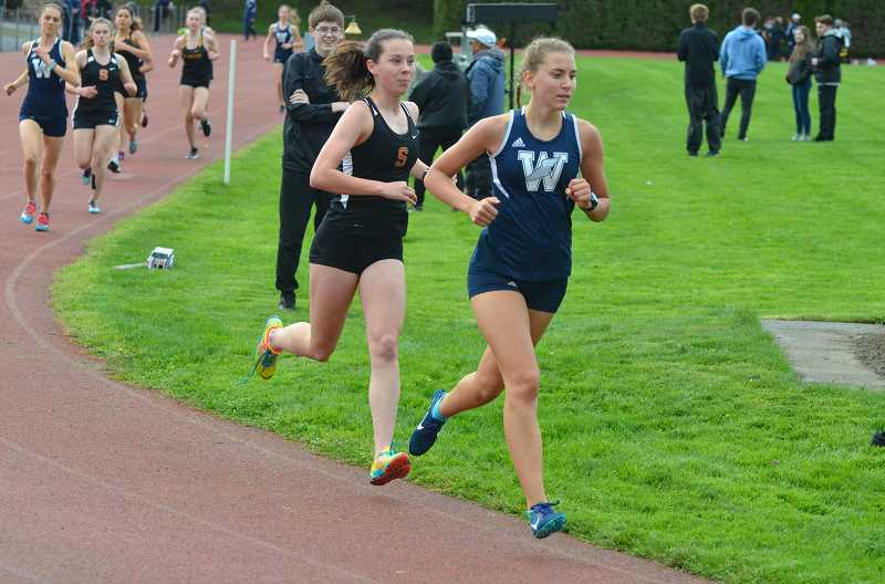 PMG FILE PHOTO: STEVE BRANDON - Freshman Gabriella Prusse took first place in the 1,500 meters against Milwaukie.