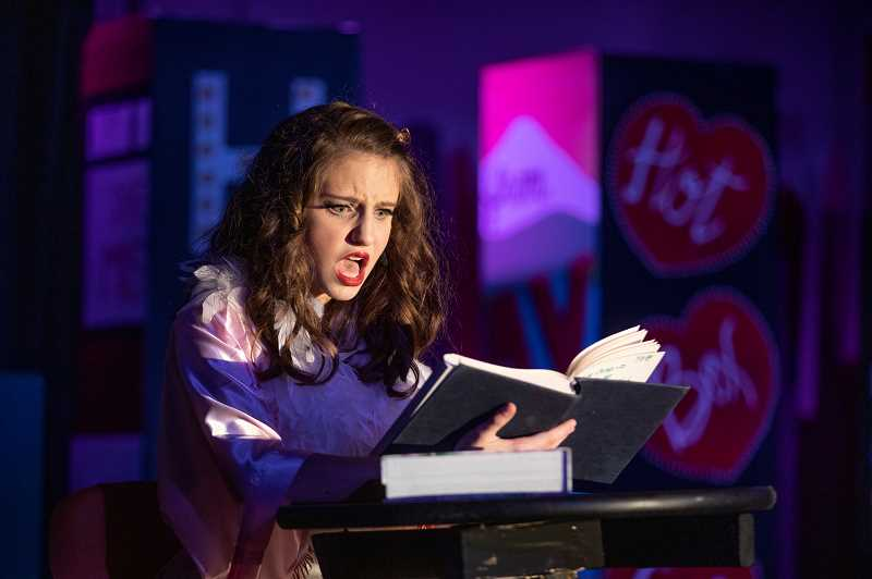 PMG PHOTO: JONATHAN HOUSE - Alli Jaffe plays Adelaide in the Lakeridge Junior High production of Guys and Dolls.