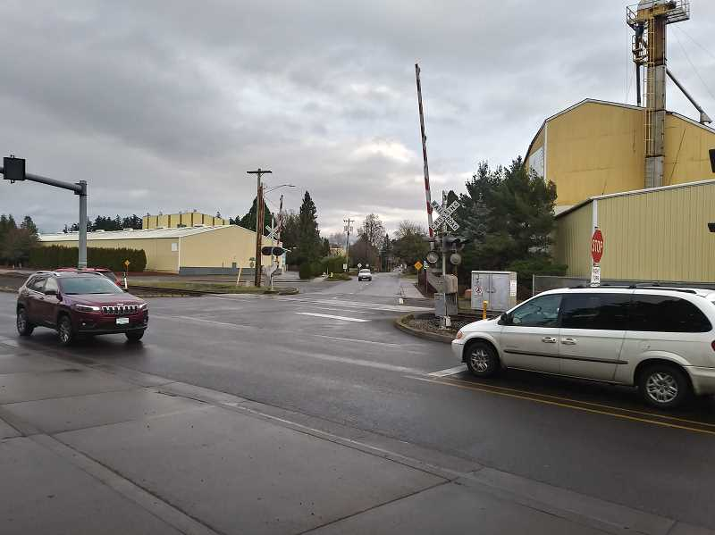 PMG PHOTO: JUSTIN MUCH - Realignment of the Hardcastle Avenue at Front Street will make the intersection safer for vehicles turning north onto Front and pedestrians crossing.